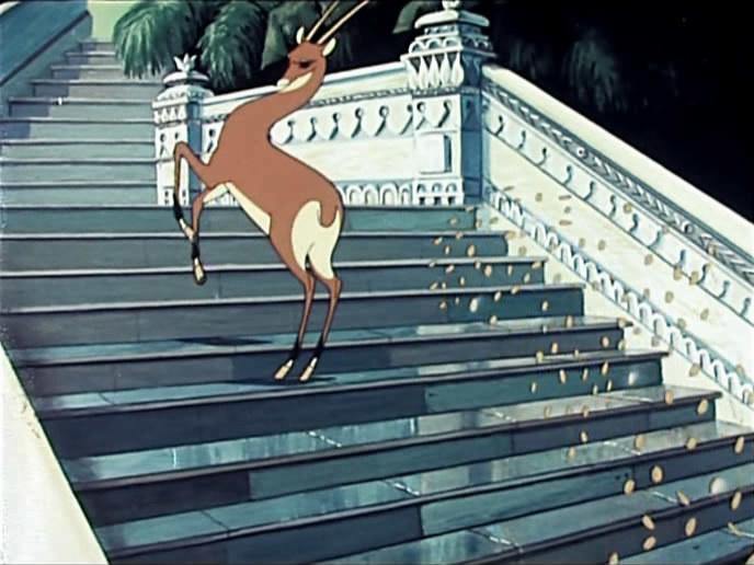Открытки, картинка из золотой антилопы
