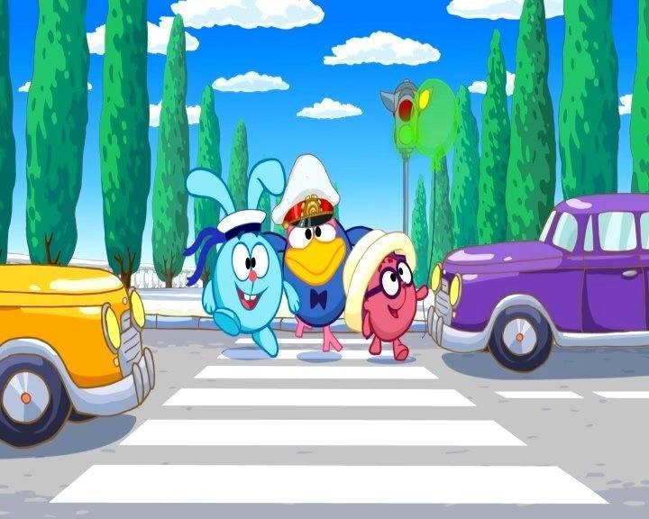 мультгерои на дороге рисунок сейчас